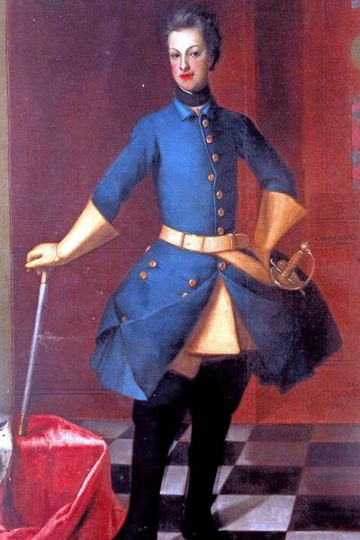 Av denna tavla är det inte svårt att förstå varför den svenska officerskåren ville ha Karl Fredrik av Holstein-Gottorp till ny svensk kung.